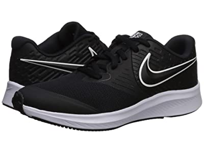 Nike Kids Star Runner 2 (Big Kid) (Black/White) Kids Shoes