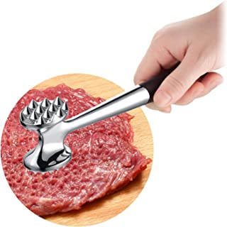 Heavy Duty Meat Tenderizer, Cozysmart Double Sided Meat Mallet & Pounder Tool, Rust Proof Zinc Alloy Kitchen Hammer with E...
