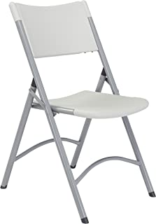 (4 Pack) 600 Series Heavy Duty Plastic Folding Chair, Speckled Grey