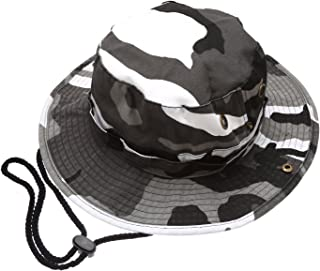Summer Outdoor Boonie Hunting Fishing Safari Bucket Sun Hat with Adjustable Strap