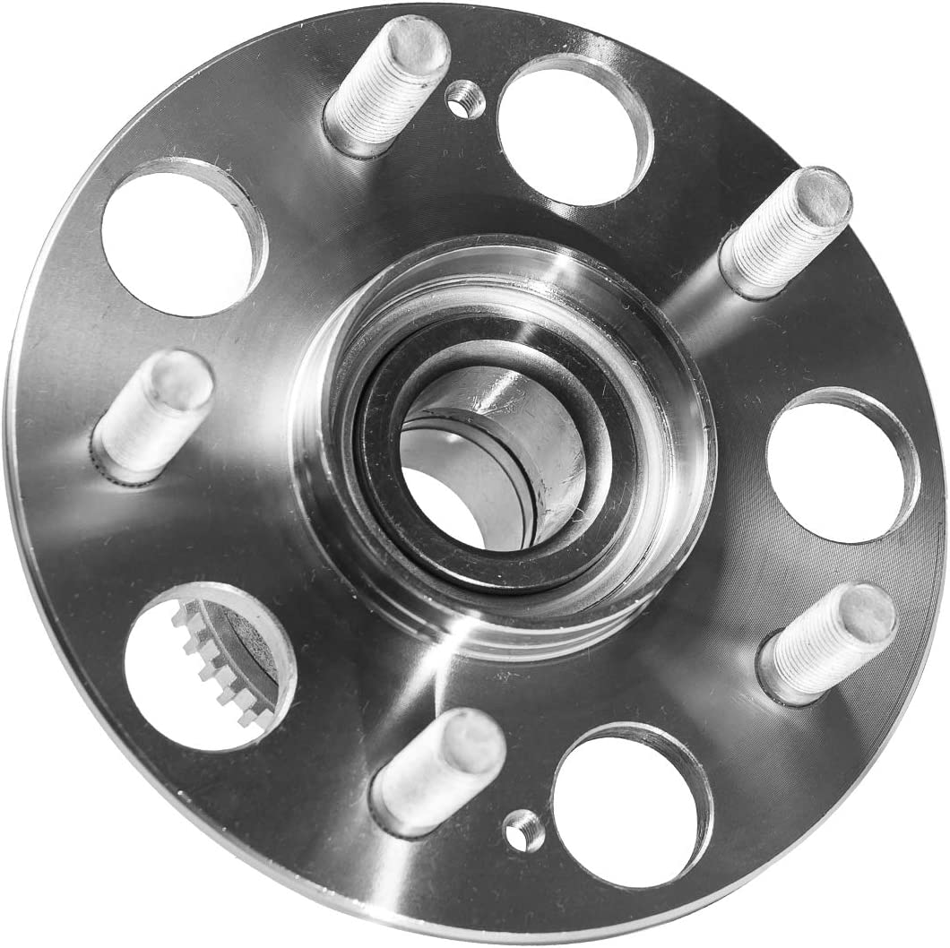 TUCAREST 512176 Rear Wheel Bearing and Hub Assembly Compatible With 1998 1999 2000 2001 2002 Honda Accord 4 Lug Non-ABS L4 2.3L;Rear Break:Drum Only