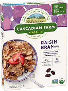 Cascadian Farm - Organic Raisin Bran Cereal, Organic, Whole Grain, 12 oz (Pack of 3)