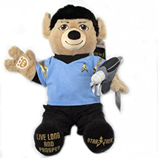 Build-a-Bear Workshop Commander Star Trek Spock Teddy with Star Trek Uniform, Star Trek Theme Song Set and FREE Phaser Gun