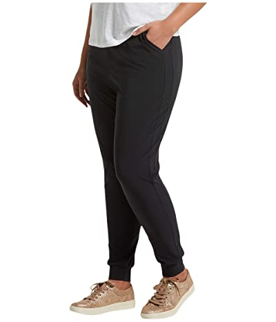 HUE Plus Size Travel High-Waist Slim Joggers (Black) Women