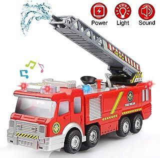 comprar comparacion Camión de Bomberos Eléctrico Juguete Coche Vehiculo con Luz, Sonidos, Bomba de Agua y Escalera Extendible para niños 3 4 5