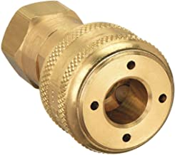 Parker Hannifin B33 Series 30 Brass Pneumatic Quick Coupler, Female Pipe Thread, 1/4 Inch Size, 1/4-18 NPTF Port