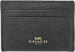 Crossgrain Leather Flat Card Case Black F57312, Small