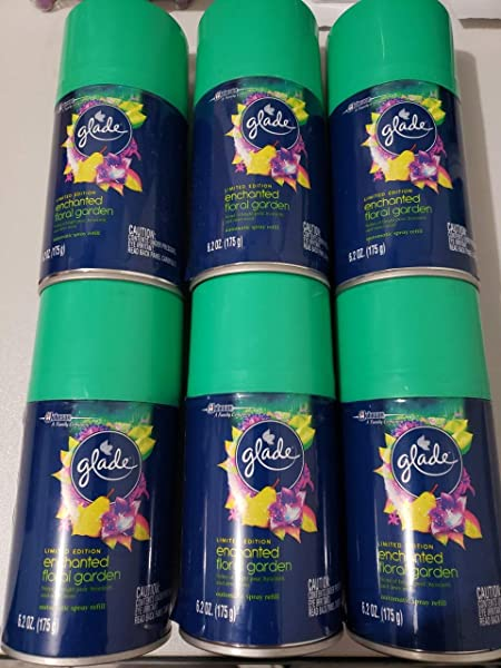 6 Glade Limited Edition Enchanted Floral Garden Automatic Spray Refill 6 2 Oz