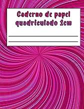 Caderno de papel quadriculado 1cm: Grande papel quadriculado para crianças, para matemática na escola primária, 110 página...