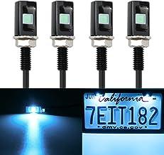LivTee Super Bright 12V Waterproof Tag Screw Bolt License Plate LED Lights Holder Legal..