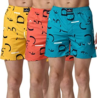 BUkkL Men's Cotton Boxers (Pack of 3)