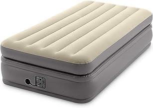 Intex -Twin Comfort Elevated Fiber-Tech Airbed, Cream (64161EP)