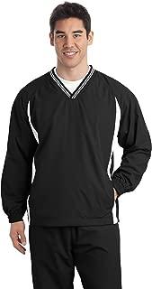Tipped V-Neck Raglan Wind Shirt. JST62