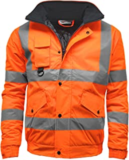 Stormway Mens Waterproof Two Tone Bomber Hi Vis Visibility Standard Safety Work Wear Jacket