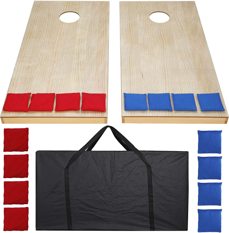 4x2' Foldable DIY Wooden San Antonio lowest price Mall Bean Bag Set Cornhole Game Toss of 2Boa
