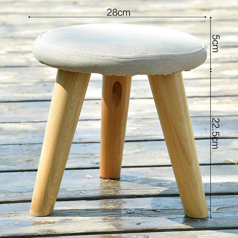 Solid Wood shoes Stool Creative Fashion Stool Cloth Sofa Stool Living Room Coffee Table Stool Stool (color    3)