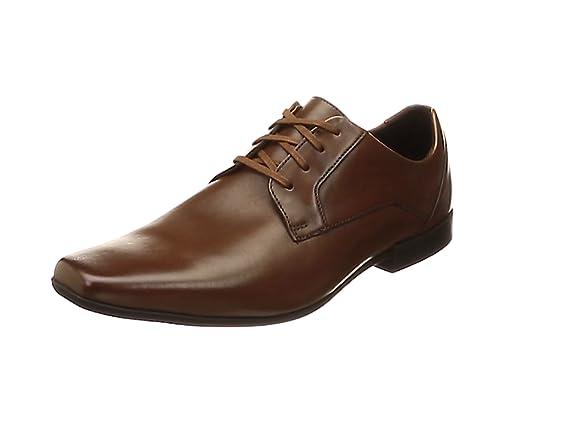 TALLA 41 EU. Clarks Glement Lace, Zapatos de Cordones Derby para Hombre