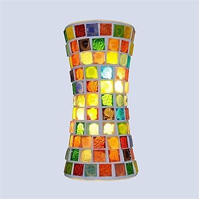 JSJJARD Applique Murale LED Mur d'éclairage intérieur Appliques Lampes rétro, Verre Mur Lampe Vintage avec Abat-Jour for Chambre Salon Hall d'entrée (Lampshade Color : A Type)