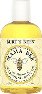 Burt's Bees Mama Bee Nourishing Oil With Vitamin E, 4-Ounce Bottle (Pack of 3)