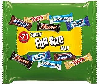 chocolate mars Snickers Twix Bounty Milkyway Large Bag,1425 G, 71 Pcs Super Fun Size Mix