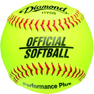 Diamond Dozen-Count 11-Inch Synthetic Optic Cover Softball, Cork Core