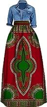 Huiyuzhi Women's African Print Skirts Long Maxi Skirt Dashiki Ball Gown