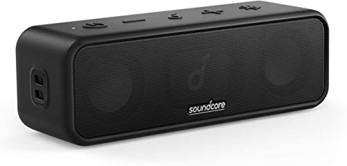 new arrival Soundcore 3 sale by Anker Soundcore, Bluetooth Speaker with Stereo Sound, Pure Titanium Diaphragm Drivers, 2021 PartyCast Technology, BassUp, 24H Playtime, IPX7 Waterproof, App, Custom EQ, Home, Outdoor, Beach outlet sale