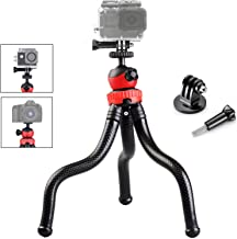Gurmoir 3in1 Flexible Action Camera Tripod Stand for Gopro Hero 8/Hero 7/Hero 6/5/AKASO/SJCAM/YI/DJI Osmo Action/DSLR Canon Nikon Sony Camera. 12-inch Flexible Tripod with Adapter and Long Screw