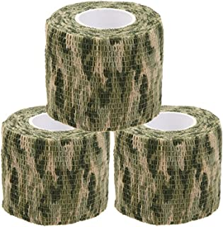 Uning Self-Adhesive Protective Camouflage Tape Wrap 5CM x 4.5M Tactical Camo Form Multi-Functional Non-Woven Fabric Stealth Tape Stretch Bandage for Outdoor Military Hunting