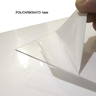FRM - Placas de Policarbonato Compacto, 1mm, Láminas de Plástico Flexible, Transparente, Medidas: (A3 - Pack de 5)
