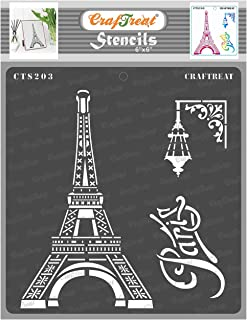 thecraftshop CrafTreat Stencil -Paris | Reusable Painting Template for Art and Craft, Mixed Media, Wall Painting, Home Dec...