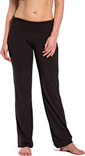 Fishers Finery Women's Ecofabric Fold Over Yoga Pant, Bootleg Athletic Pant