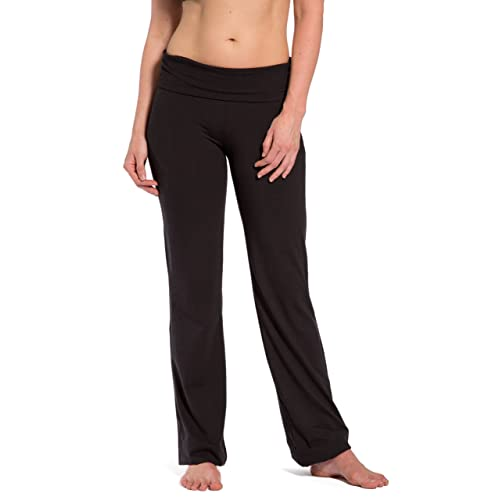 837f1632bb Fishers Finery Women's Ecofabric Fold Over Yoga Pant, Bootleg Athletic Pant