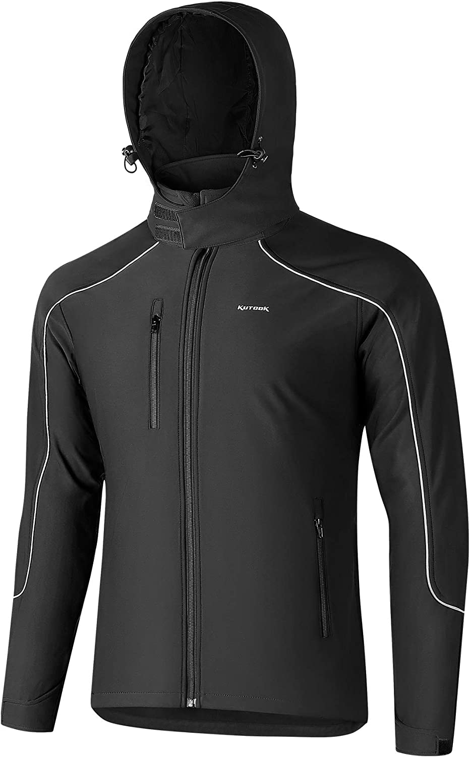 KUTOOK Windproof Soft Shell Jacket Mens Lined service Max 77% OFF and Thermal Fleece