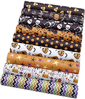 David Angie Halloween Theme Printed Synthetic Leather 9 Sheets 8