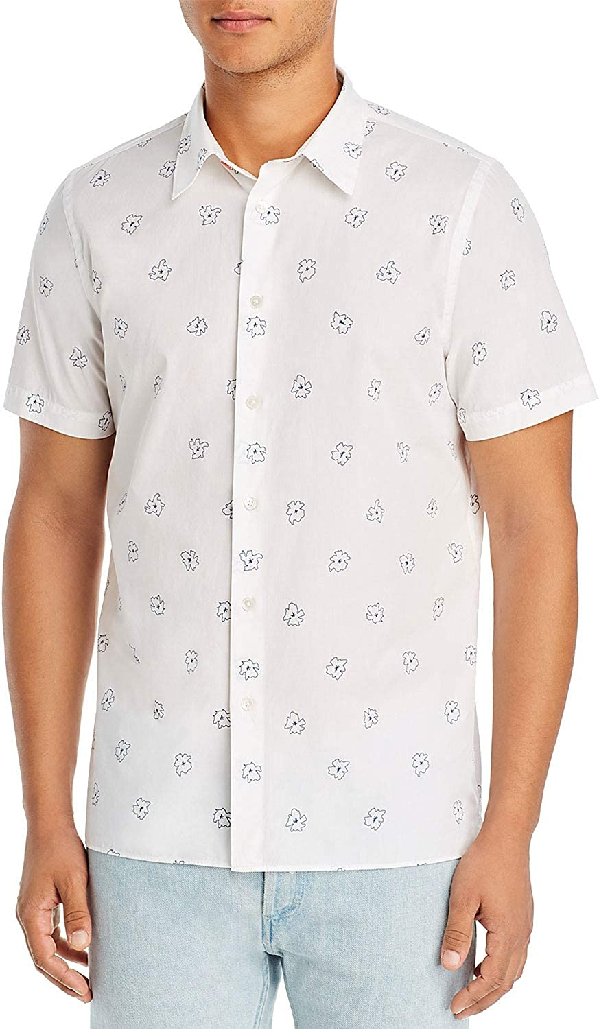 Paul Smith Mens Floral latest Casual Button OFFicial mail order Shirt Coll Large Down Point