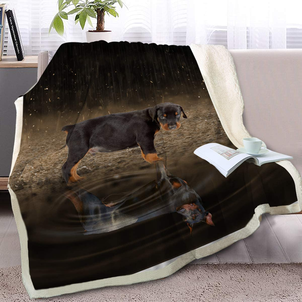 Blessliving Fuzzy Dog in Super beauty Sales product restock quality top The Rain Ani Blanket Adults Kids 3D for