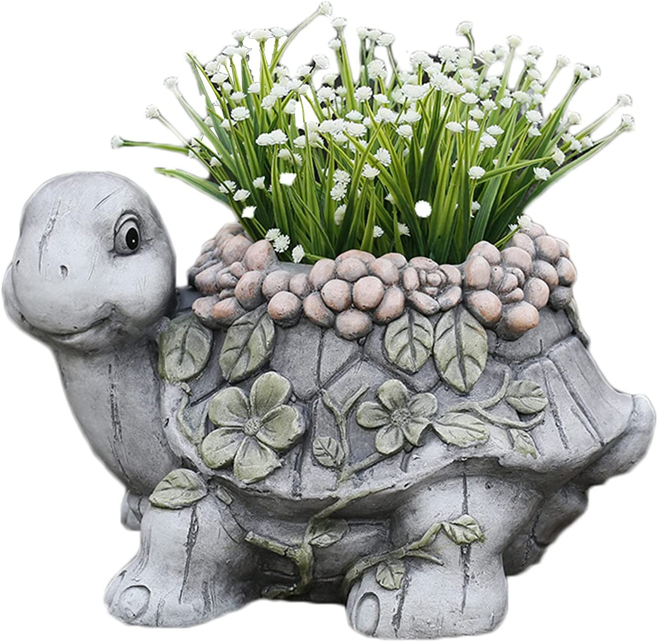 OFFicial shop MEIHOME Cement Planter Pot Raleigh Mall with Animal Sh Cartoon Drainage Hole
