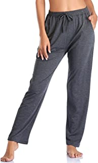 Sponsored Ad - Envlon Women's Yoga Pants with Pockets Comfy Stretch Loose Wide Leg Casual Pants Breathable Running Workout...
