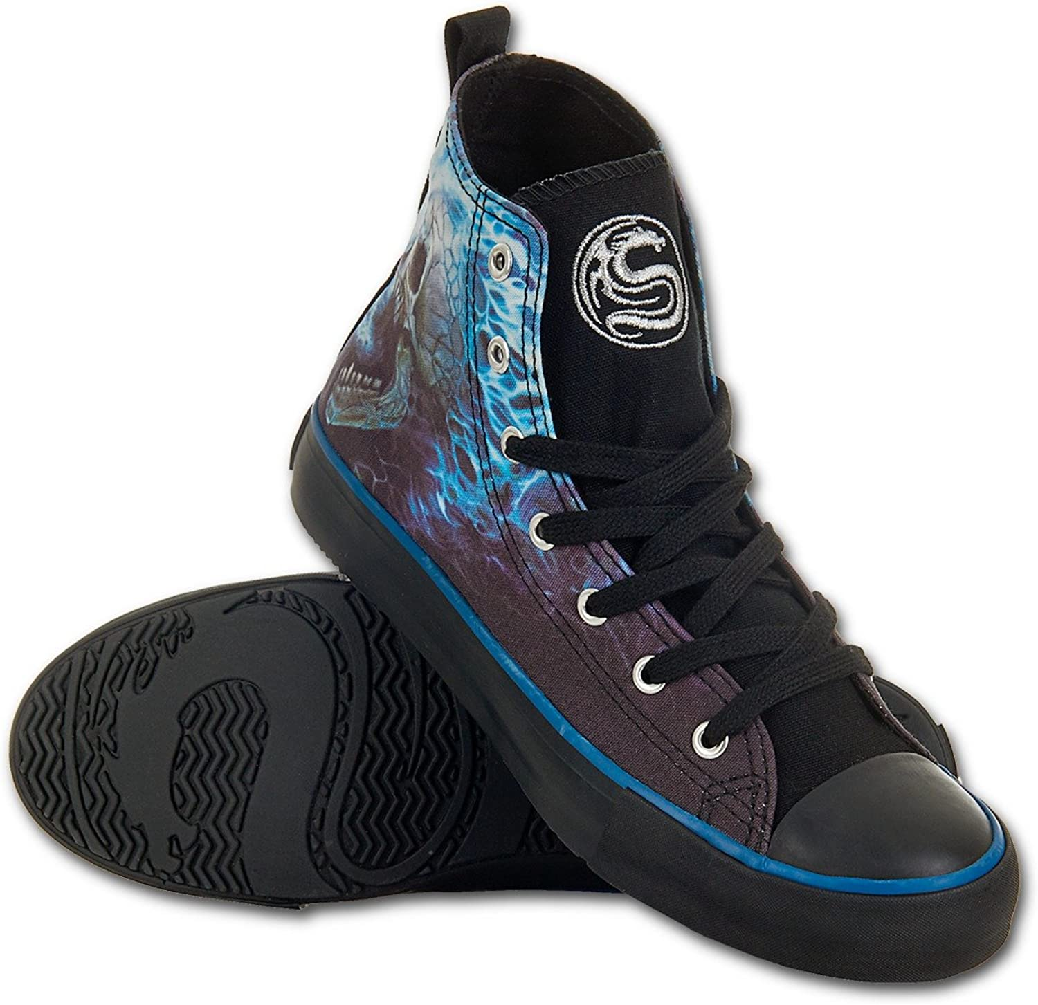 Spiral Womens - Flaming Spine - Sneakers - Ladies High Top Laceup