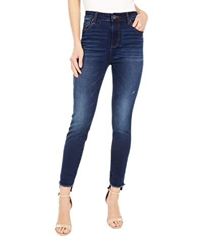 KUT from the Kloth Connie High-Rise Ankle Skinny with Step Fray Hem in Budding (Budding Wash) Women