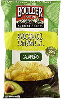 Boulder Canyon Authentic Foods Avocado Oil Canyon Cut Kettle Cooked Potato Chips Jalapeno -- 5.25 oz (Pack of 2)