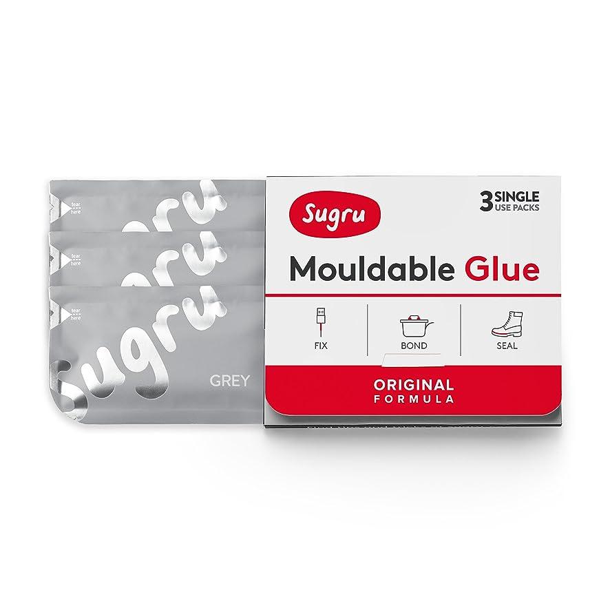 Sugru Moldable Glue - Original Formula - Grey 3-Pack