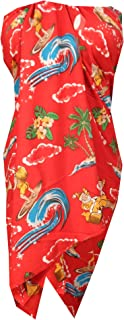 Alvish Sarong Christmas Santa Claus Party Swimsuit Wrap Plus Size Pareo Holiday Beach