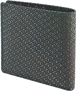 INDEN-YA 印傳屋 印伝 財布 二つ折り財布 メンズ 男性用 黒×黒 ひょうたん 2009-01-007