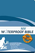 NIV(1984) Waterproof Bible: Blue Wave