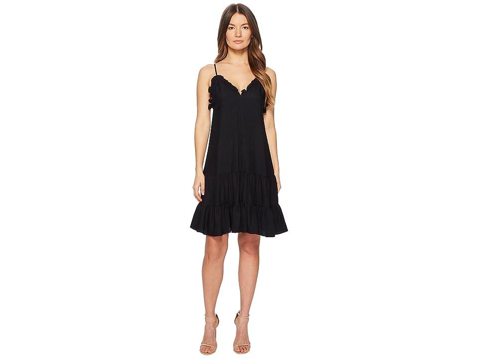 Rebecca Taylor Sleeveless Silk Slip Dress (Dark Navy) Women