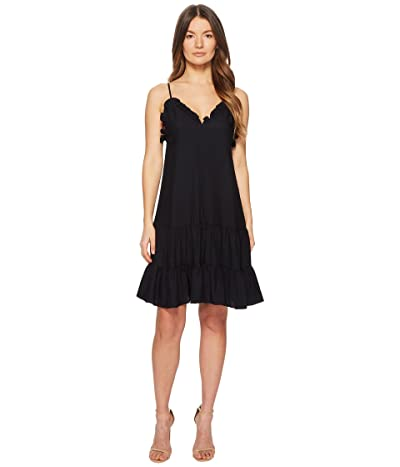 Rebecca Taylor Sleeveless Silk Slip Dress (Dark Navy) Women