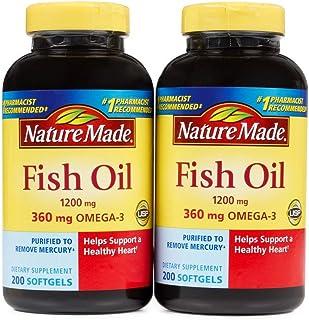 Nature Made 莱萃美 深海鱼油软胶囊1200mg 200粒 (2瓶装,共400粒)