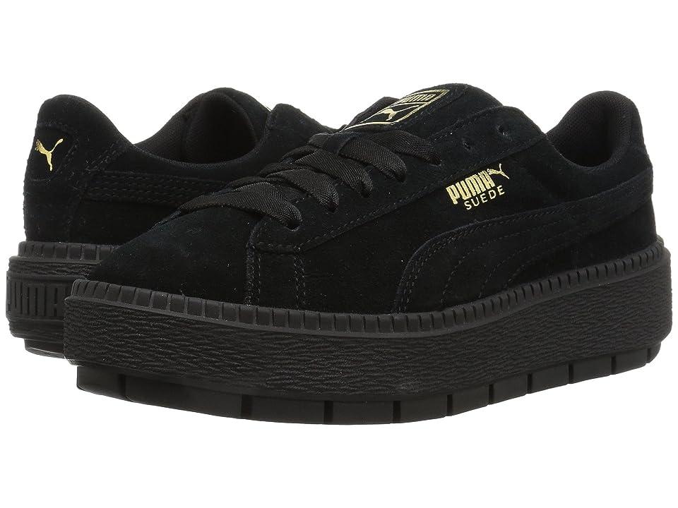 PUMA Suede Platform Trace (Puma Black/Puma Black) Women